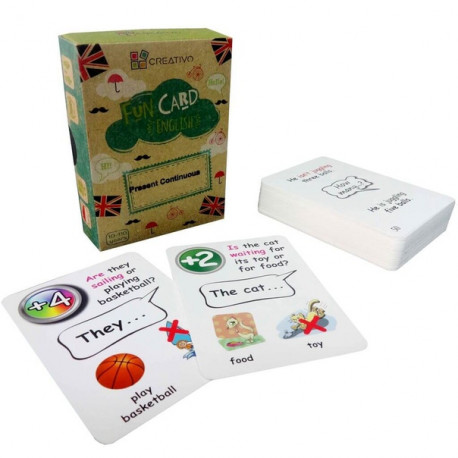 Present Continuous Fun Cards