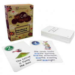 Prepositions of Time and Place Fun Cards