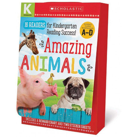 Amazing Animals Kindergarten A-D 16 Reader Box Set